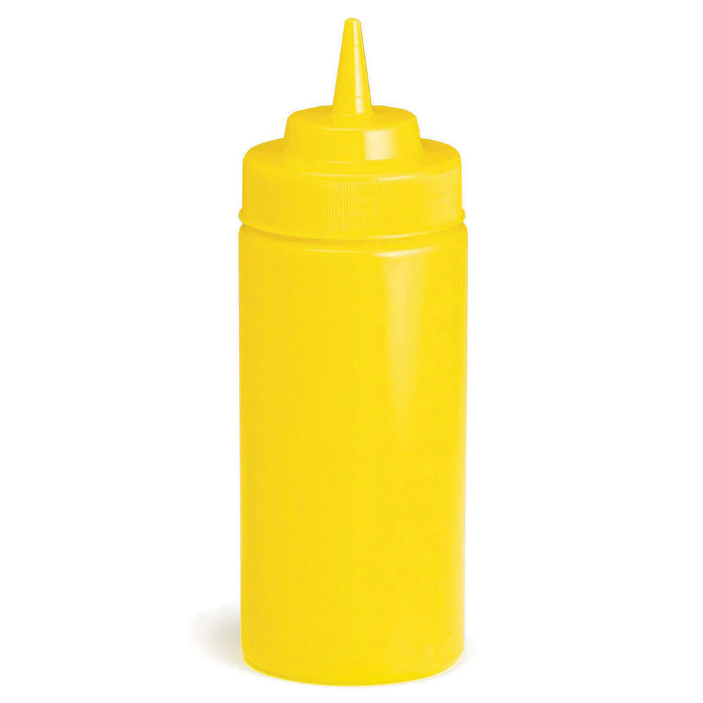 Tablecraft C10853M Cash And Carry Wide Mouth Squeeze Dispenser, 8-oz.,Mustard