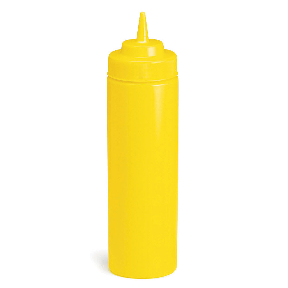 Tablecraft C11253M Cash And Carry Wide Mouth Squeeze Dispenser, 12-oz, Yellow