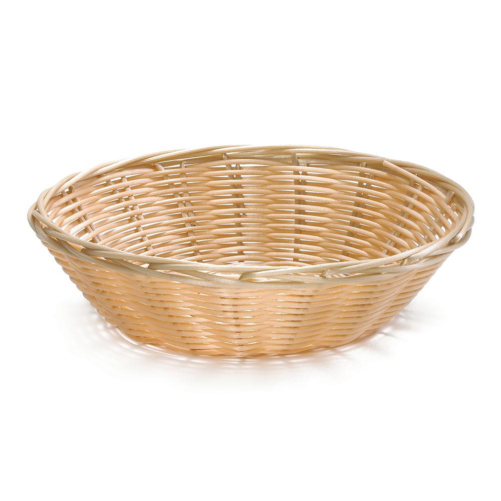 "Tablecraft C1175W 8.5"" Round Hand-Woven Baskets - Polypropylene, Natural"