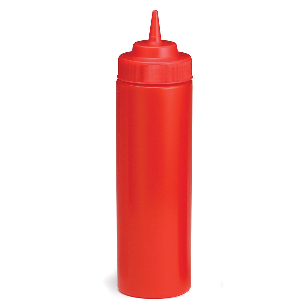 Tablecraft C12463K Cash And Carry Wide Mouth Squeeze Dispenser, 24-oz, Red