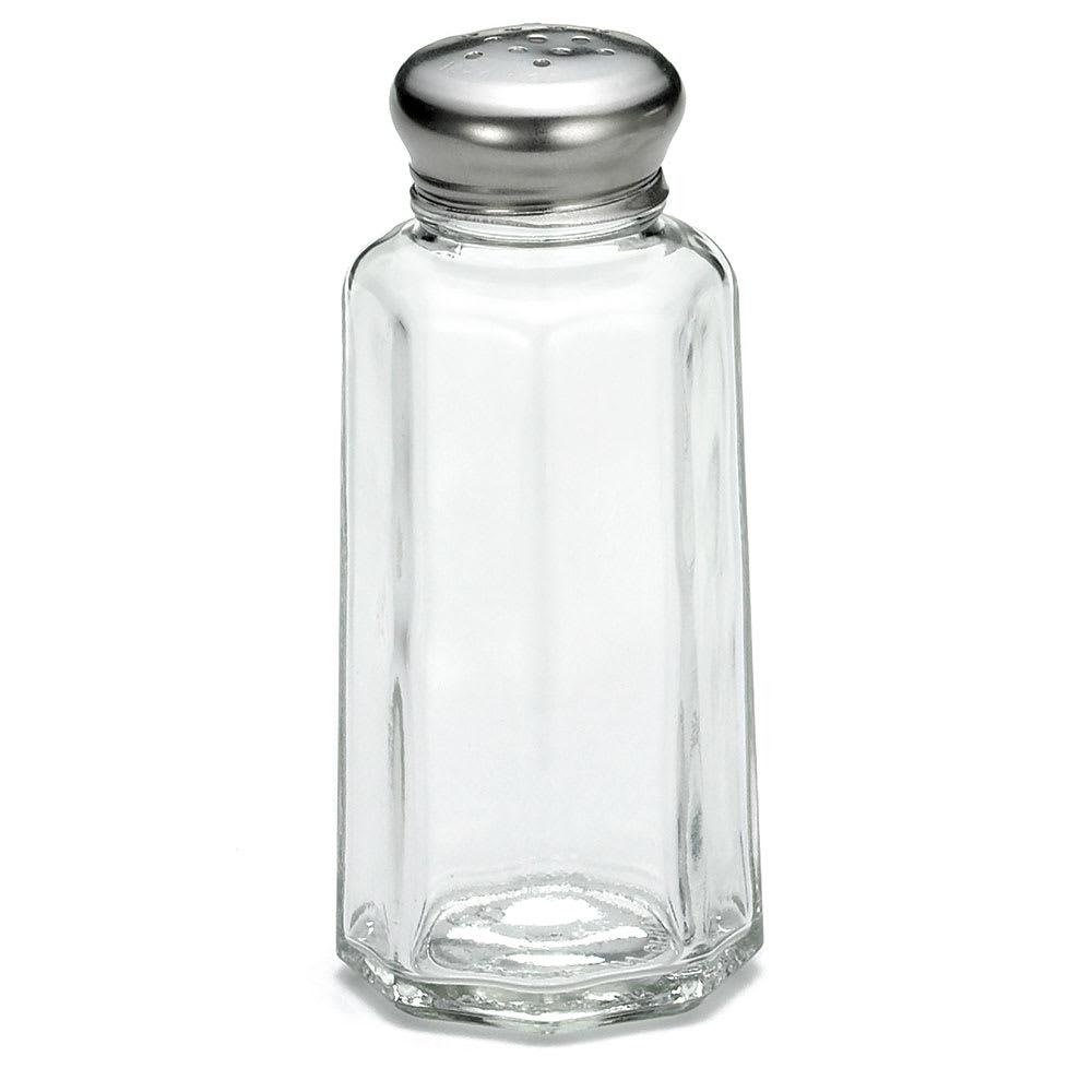 Tablecraft C155-12 Salt / Pepper Shaker, 2 oz, Glass, SS Top