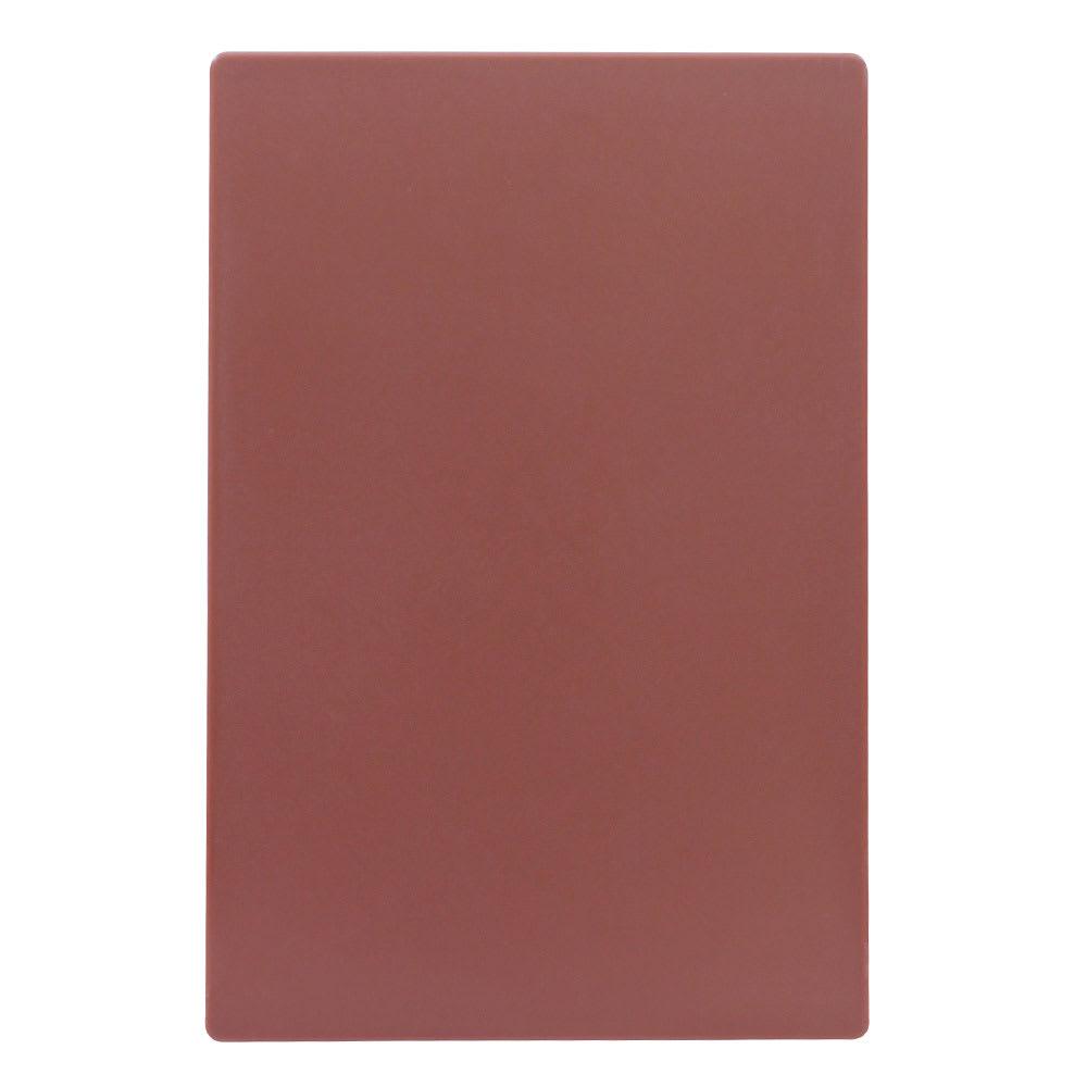 """Tablecraft CB1218BRA Brown Polyethylene Cutting Board, 12 x 18 x 1/2"""", NSF Approved"""