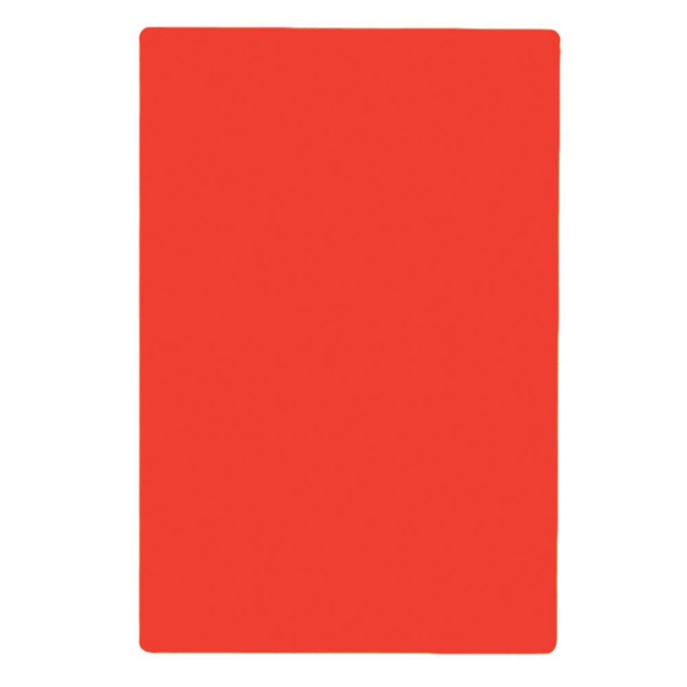 """Tablecraft CB1218RA Red Polyethylene Cutting Board, 12 x 18 x 1/2"""", NSF Approved"""