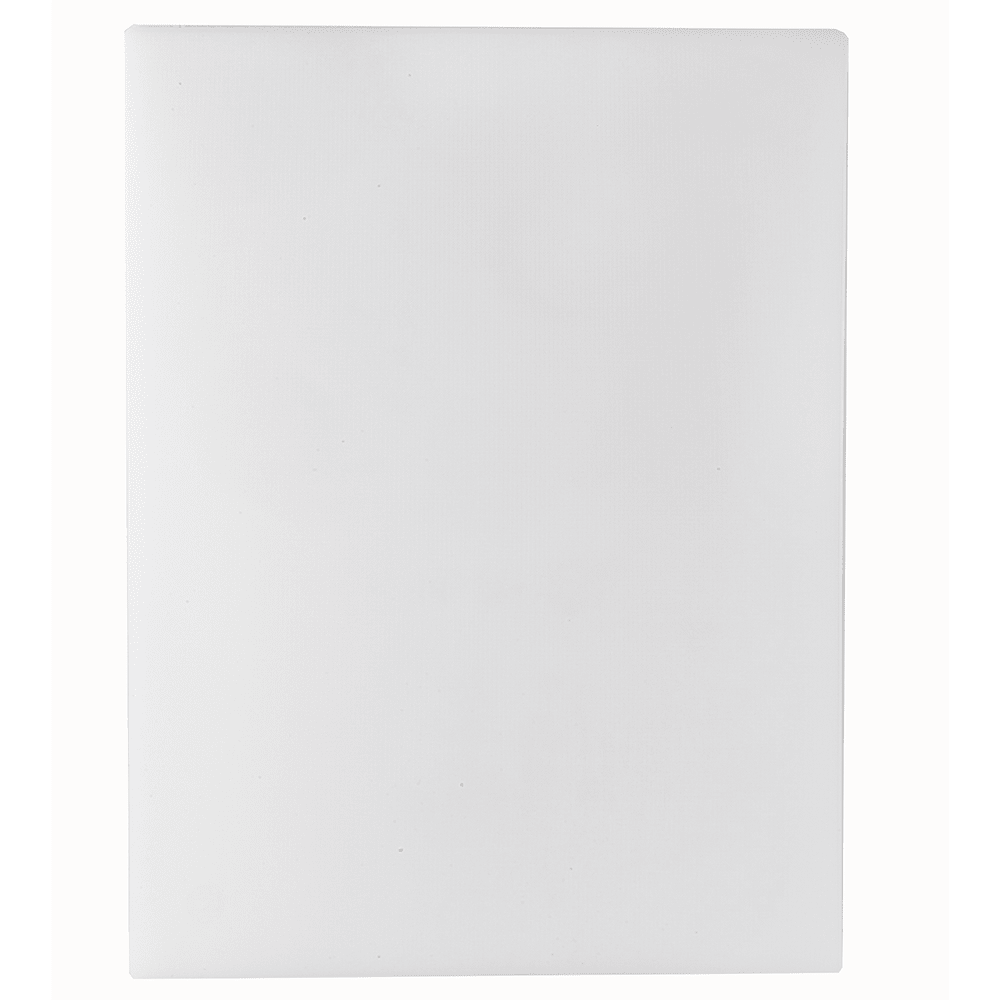 "Tablecraft CB1520WA White Polyethylene Cutting Board, 15 x 20 x 1/2"", NSF Approved"