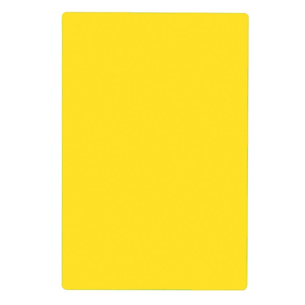 """Tablecraft CB1824YA Yellow Polyethylene Cutting Board, 18 x 24 x 1/2"""", NSF Approved"""