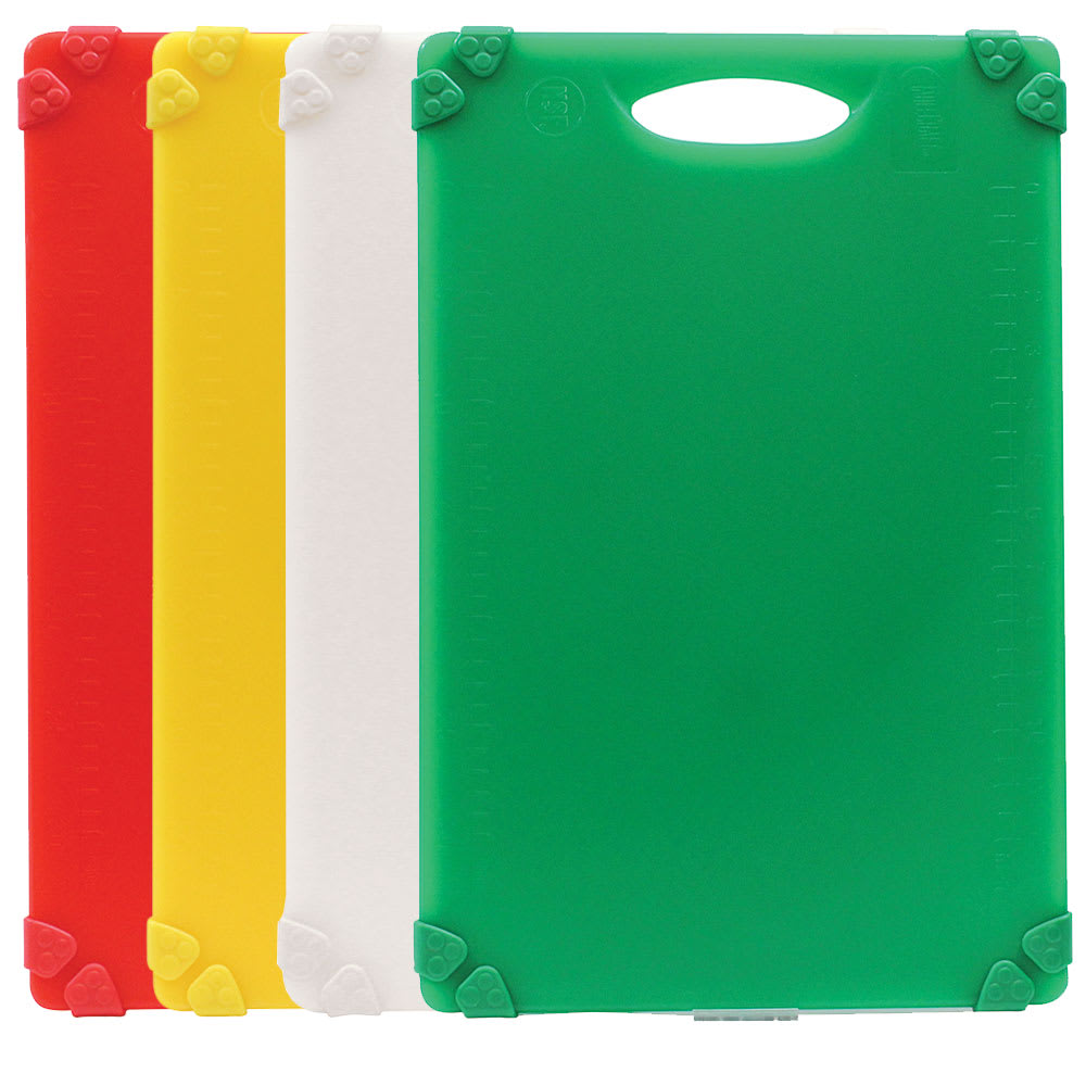 "Tablecraft CBG1218APK4 Cutting Board Kit w/ Anti-Slip Grips, (4) 12"" x 18"" Boards, Polyethylene"