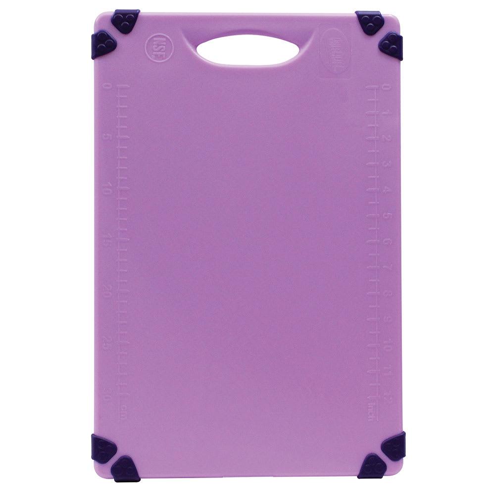 """Tablecraft CBG1218APR Cutting Board w/ Anti-Slip Grips, 12"""" x 18"""", Polyethylene, Purple"""