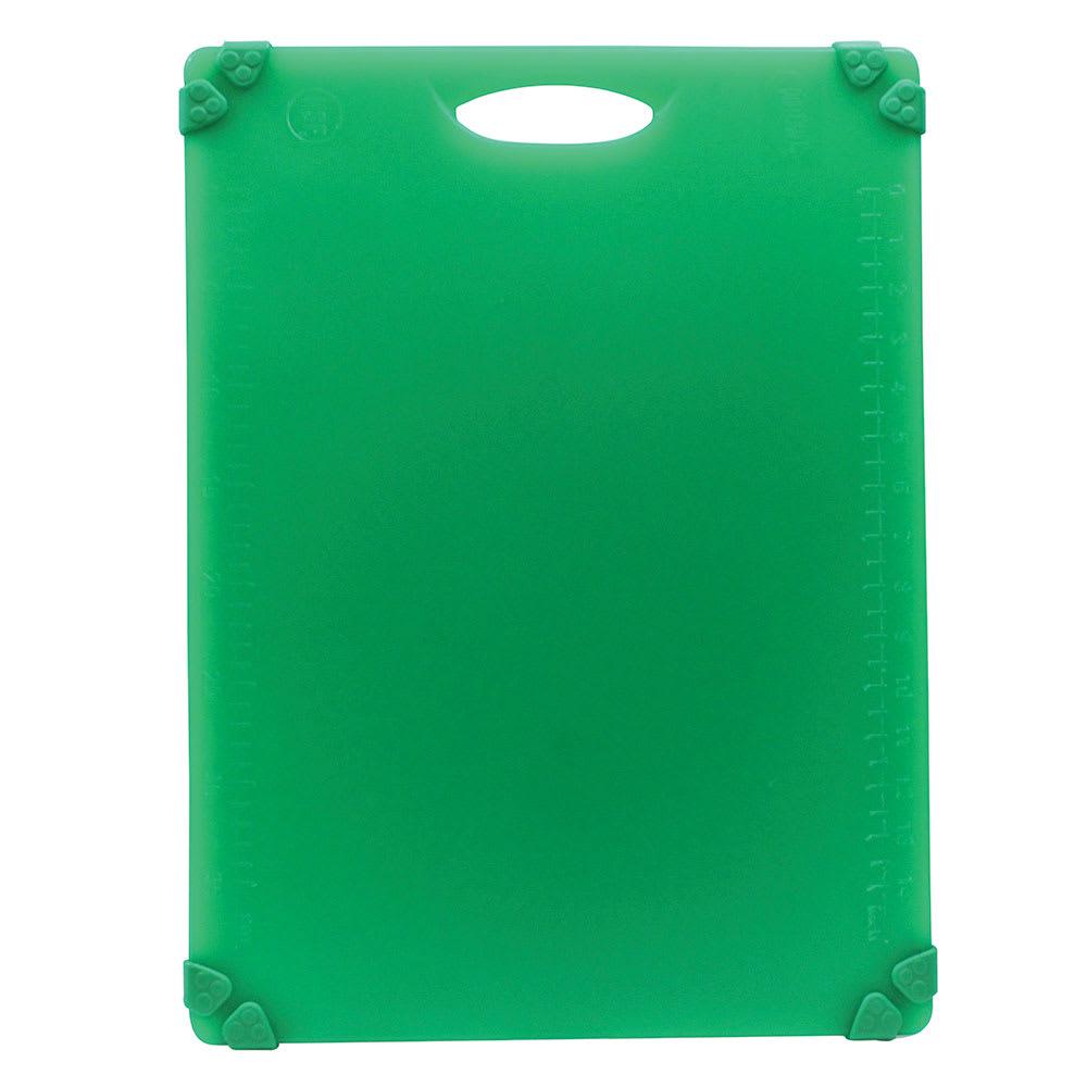 """Tablecraft CBG1520AGN Cutting Board w/ Anti-Slip Grips, 15"""" x 20"""", Polyethylene, Green"""