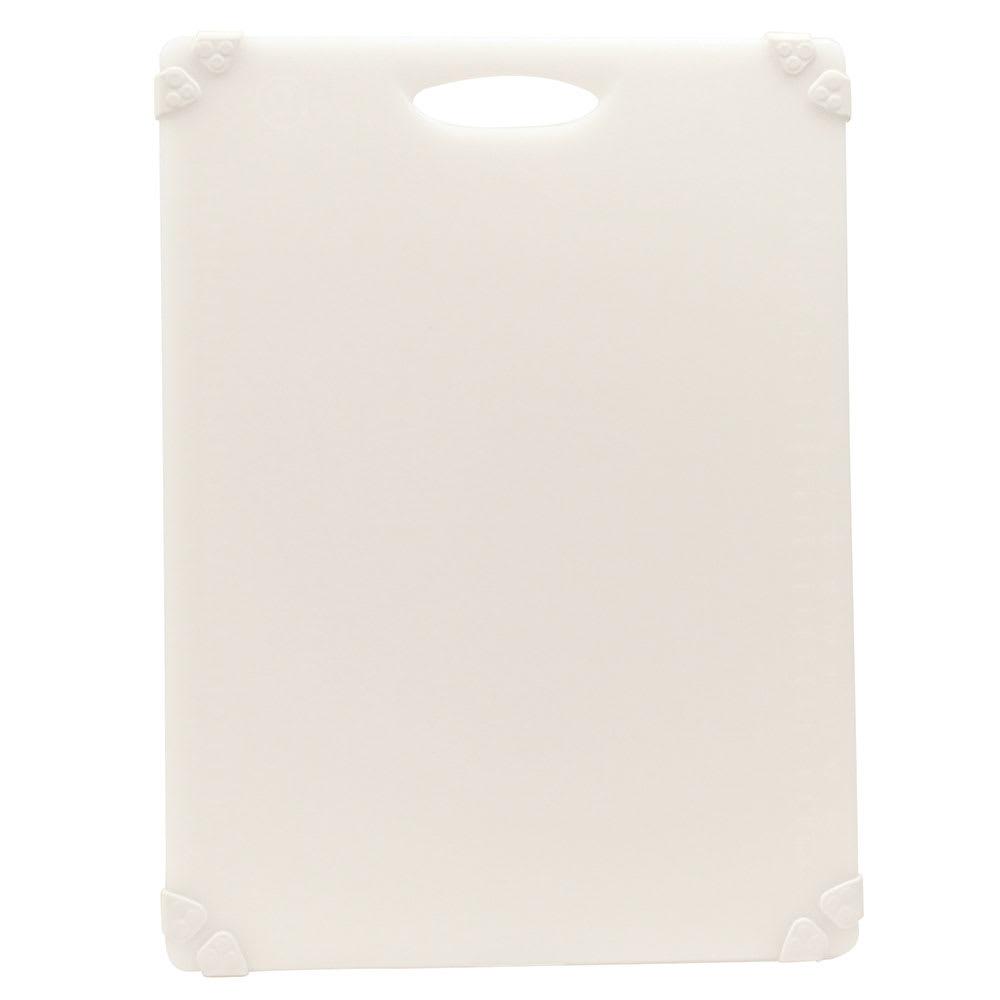 """Tablecraft CBG1520AWH Cutting Board w/ Anti-Slip Grips, 15"""" x 20"""", Polyethylene, White"""