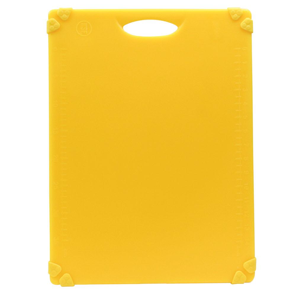 """Tablecraft CBG1520AYL Cutting Board w/ Anti-Slip Grips, 15"""" x 20"""", Polyethylene, Yellow"""