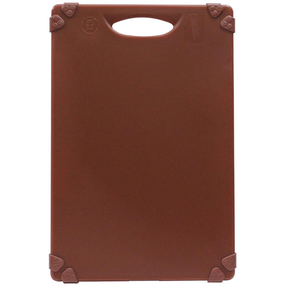 """Tablecraft CBG1824ABR Cutting Board w/ Anti-Slip Grips, 18"""" x 24"""", Polyethylene, Brown"""