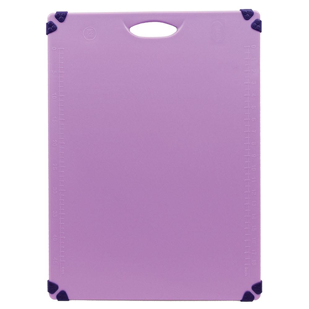 """Tablecraft CBG1824APR Cutting Board w/ Anti-Slip Grips, 18"""" x 24"""", Polyethylene, Purple"""