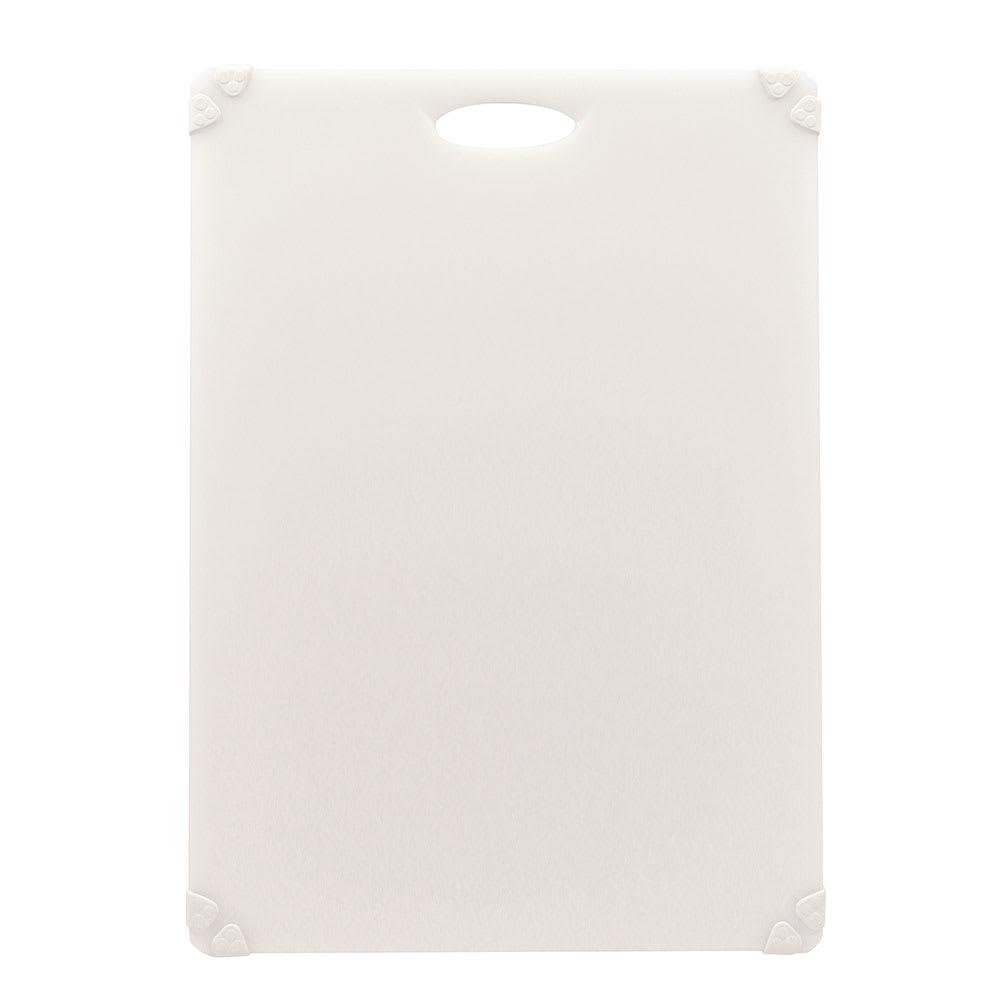 """Tablecraft CBG1824AWH Cutting Board w/ Anti-Slip Grips, 18"""" x 24"""", Polyethylene, White"""