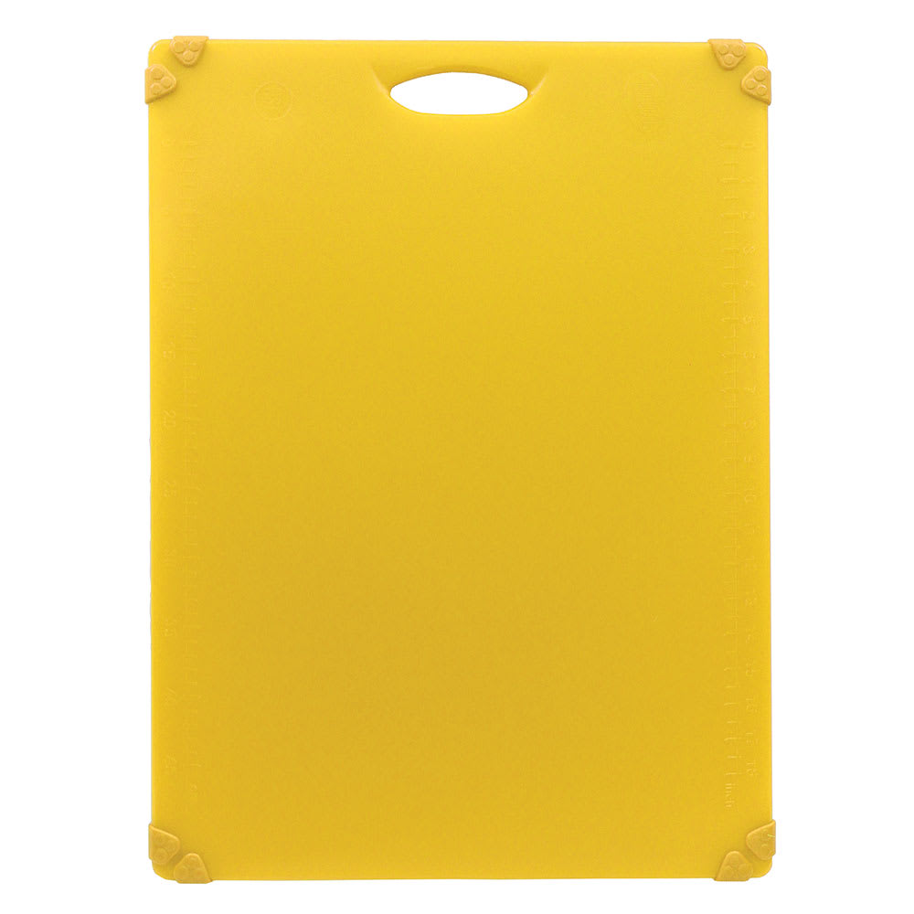 "Tablecraft CBG1824AYL Cutting Board w/ Anti-Slip Grips, 18"" x 24"", Polyethylene, Yellow"