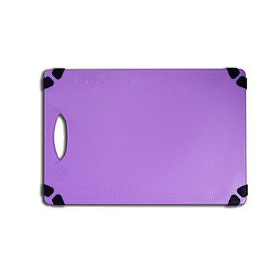"""Tablecraft CBG912APR Cutting Board w/ Anti-Slip Grips, 9"""" x 12"""", Polyethylene, Purple"""