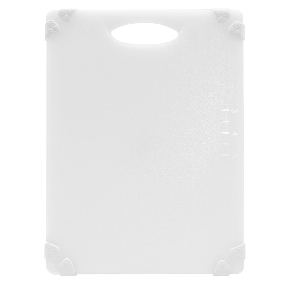 "Tablecraft CBGW912AWH Cutting Board w/ Anti-Slip Grips, 9"" x 12"", Polyethylene, White"