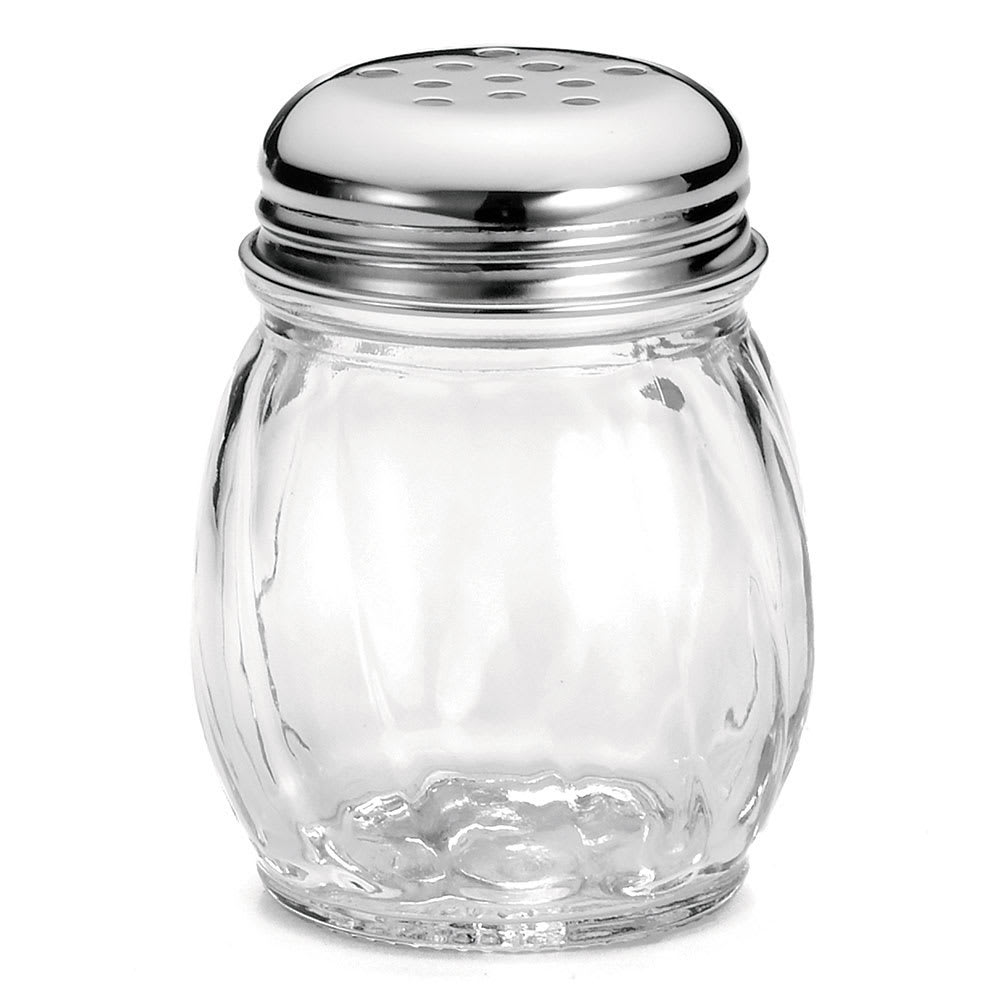 Tablecraft CP260-4 Cheese Shaker, 6 oz, Swirl Polycarbonate, Chrome Top