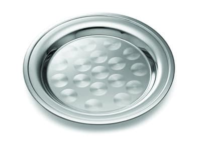 Tablecraft CTX10R Round Serving Tray, Rolled Edge, 10 in Dia, Stainless Steel