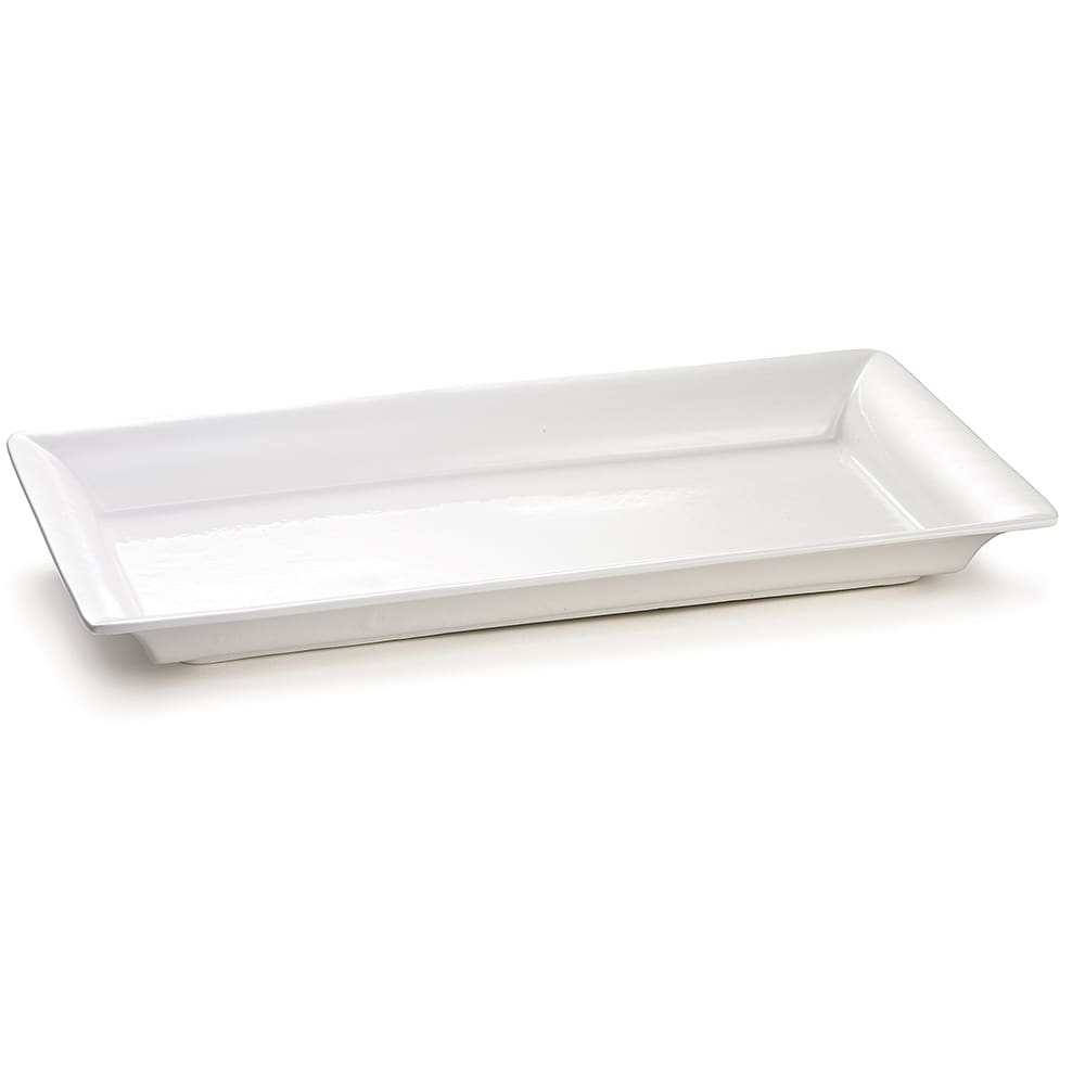"Tablecraft CW2110W Rectangular Platter, 21.5"" x 12"", Aluminum"