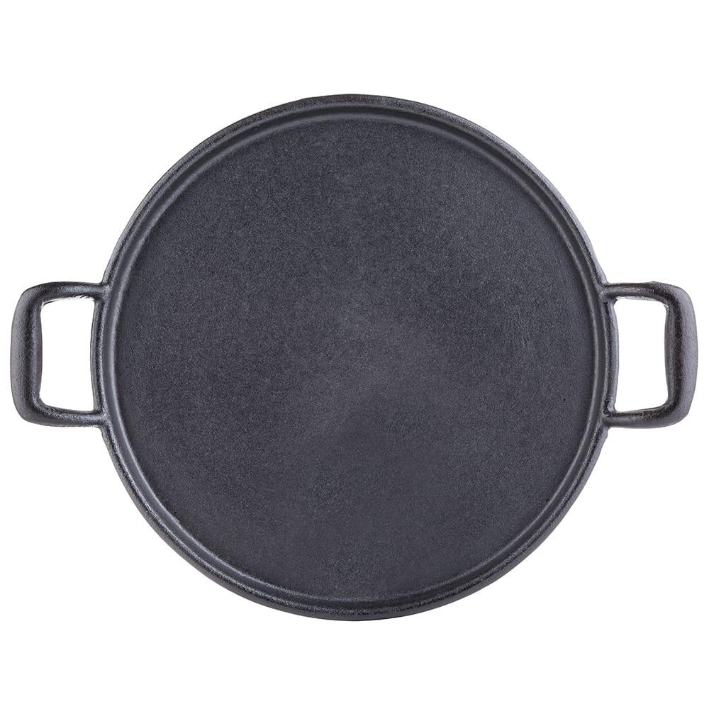 "Tablecraft CW30118 13.5"" Pizza Pan w/ Handles, Cast-Iron"