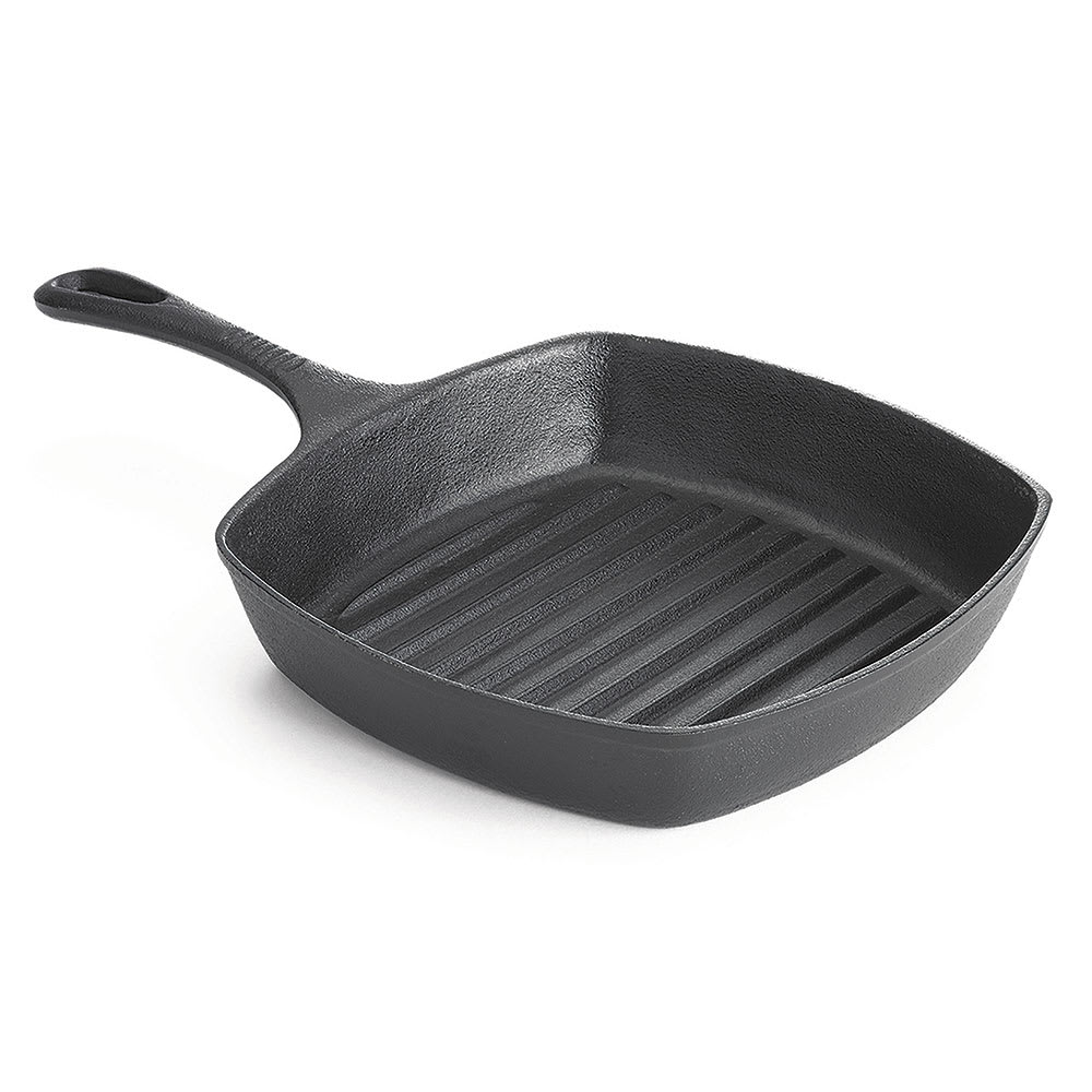 "Tablecraft CW30120 10"" Square Grill Pan - Non-Stick, Cast Iron"