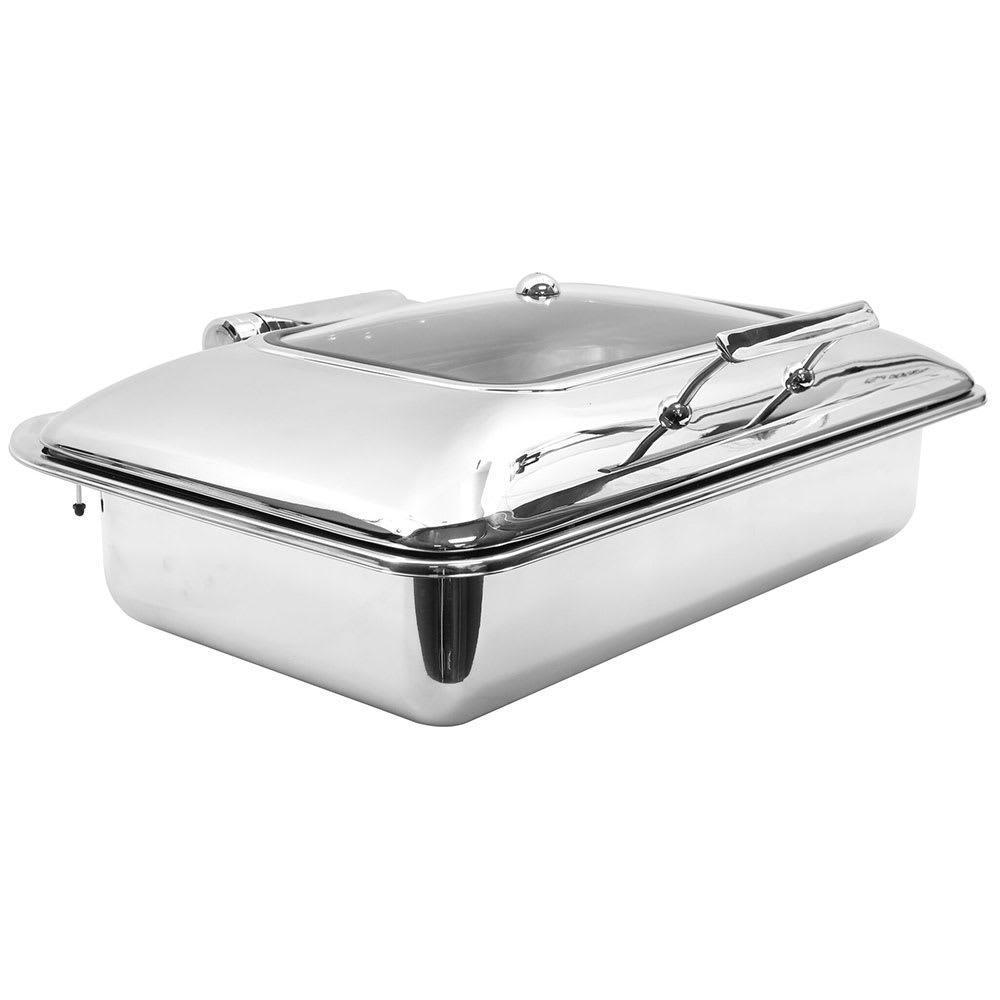 Tablecraft CW40161 Full Size Chafer w/ Hinged Lid & Induction Heat