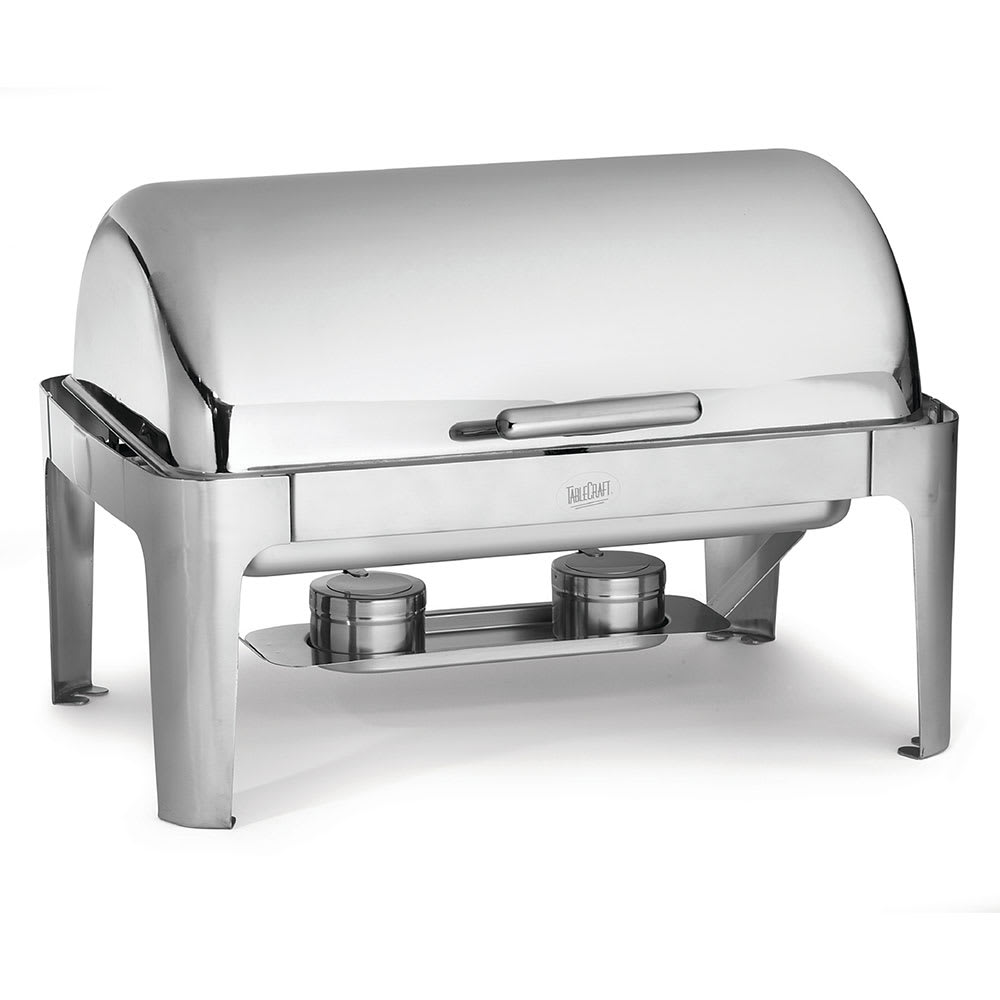 Tablecraft CW40167 Full Size Chafer w/ Roll-Top Lid & Chafing Fuel Heat