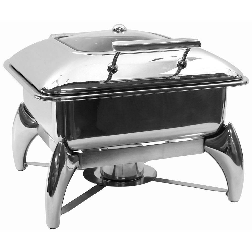Tablecraft CW40176 Two-Third Size Chafer w/ Hinged Lid & Chafing Fuel Heat