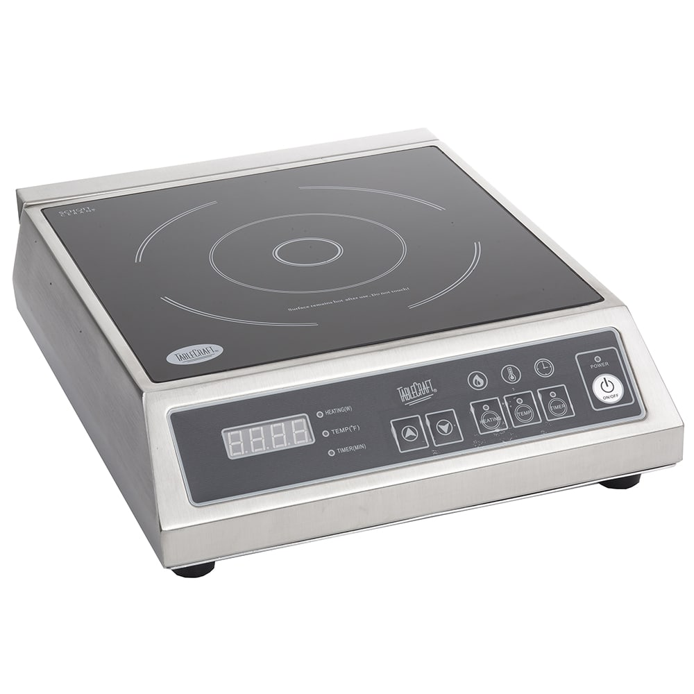 Tablecraft CW40195 Countertop Commercial Induction Cooktop w/ (1) Burner, 120v