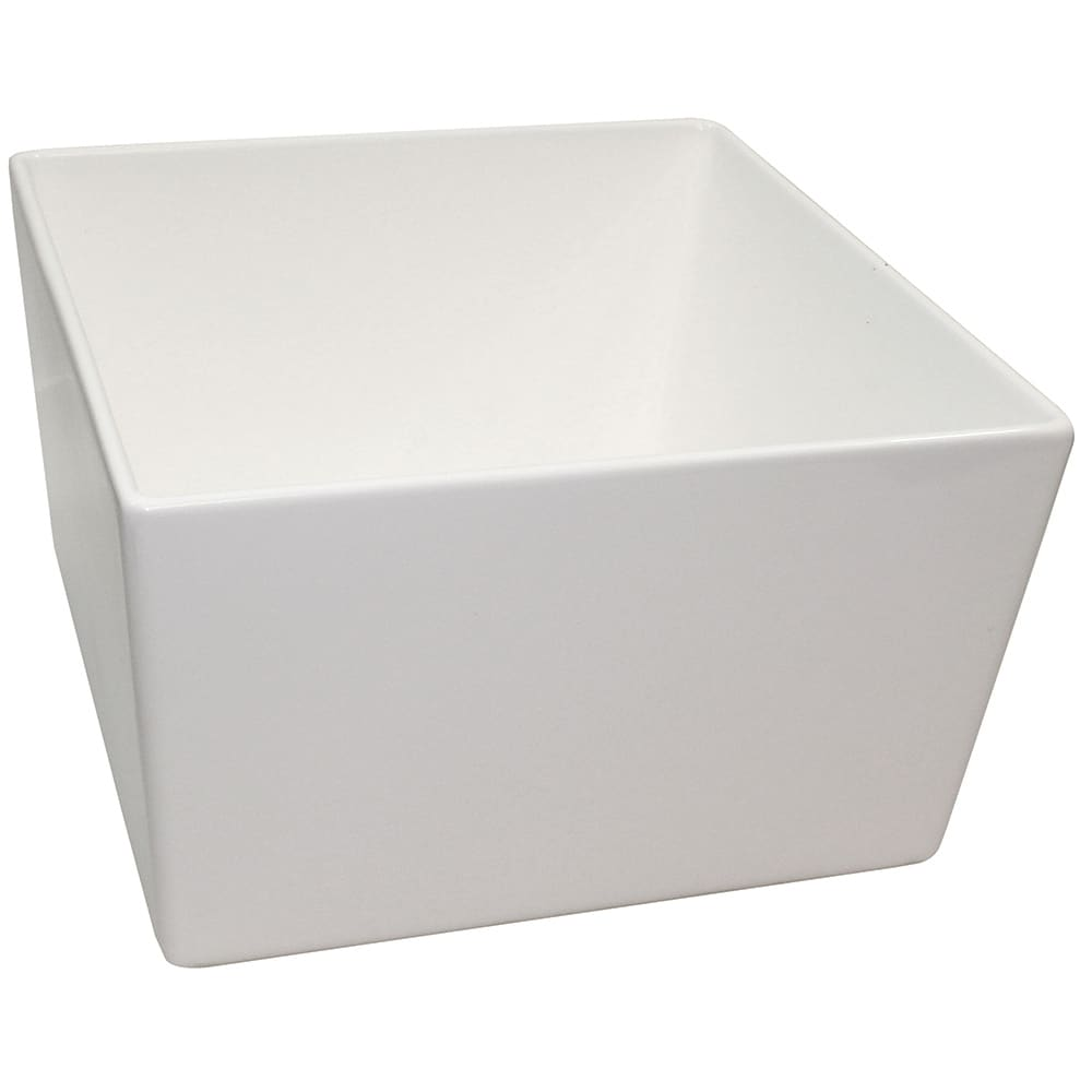 "Tablecraft CW4036W 10"" Square Bowl w/ 308-oz Capacity, White"