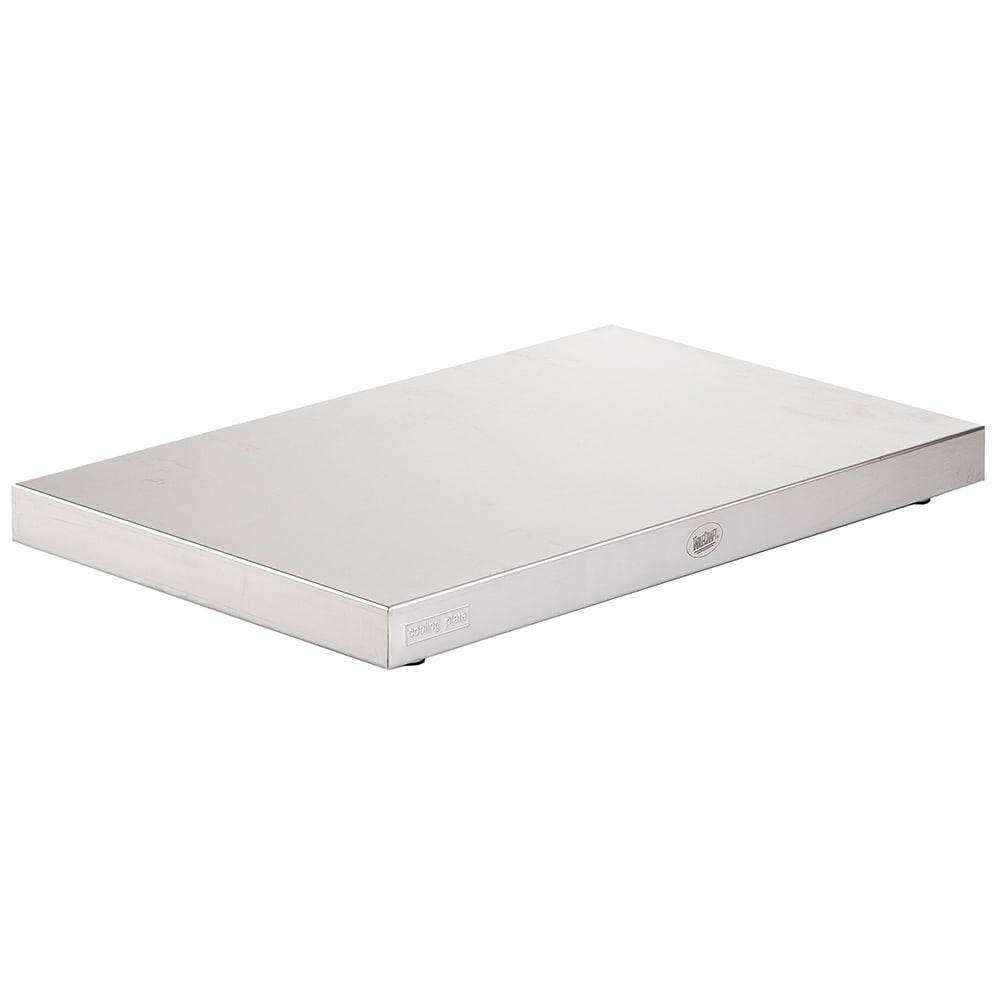 "Tablecraft CW60100 Full Size Rectangular Cooling Plate, 20.875"" x 12.75"" x 1.5"", Stainless"