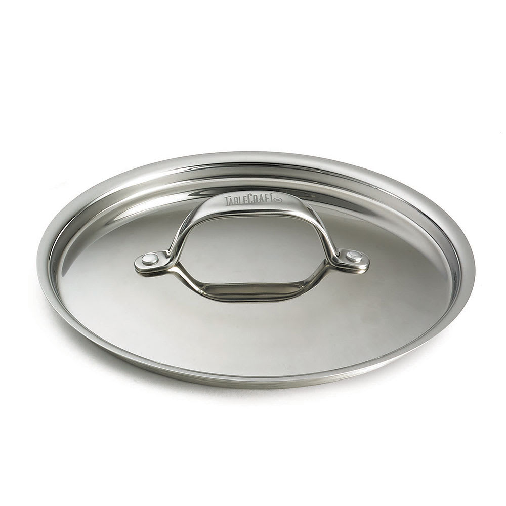 """Tablecraft CW7000L 6"""" Mini Casserole Dish Cover, Stainless"""
