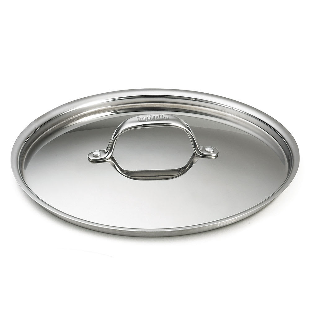 "Tablecraft CW7008L 10"" Fry Pan Cover w/ Handle, Stainless"