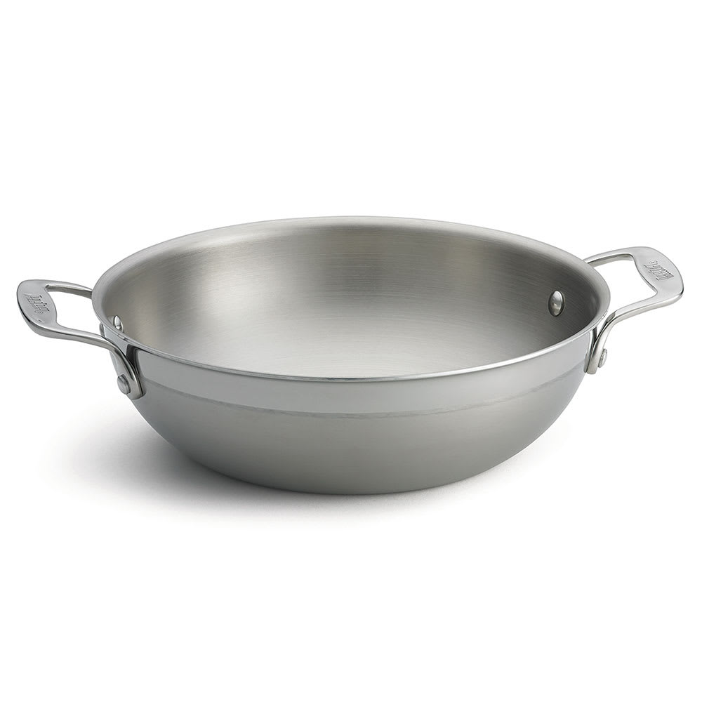 """Tablecraft CW7012 10"""" Stainless Steel/Aluminum Stir Fry Pan - Induction Ready & Oven Safe"""