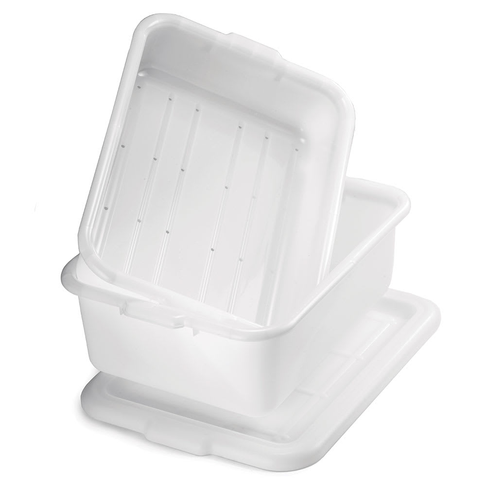 Tablecraft DBF57 White Polyethylene Freezer Drain Box Set, F1537 & F1531