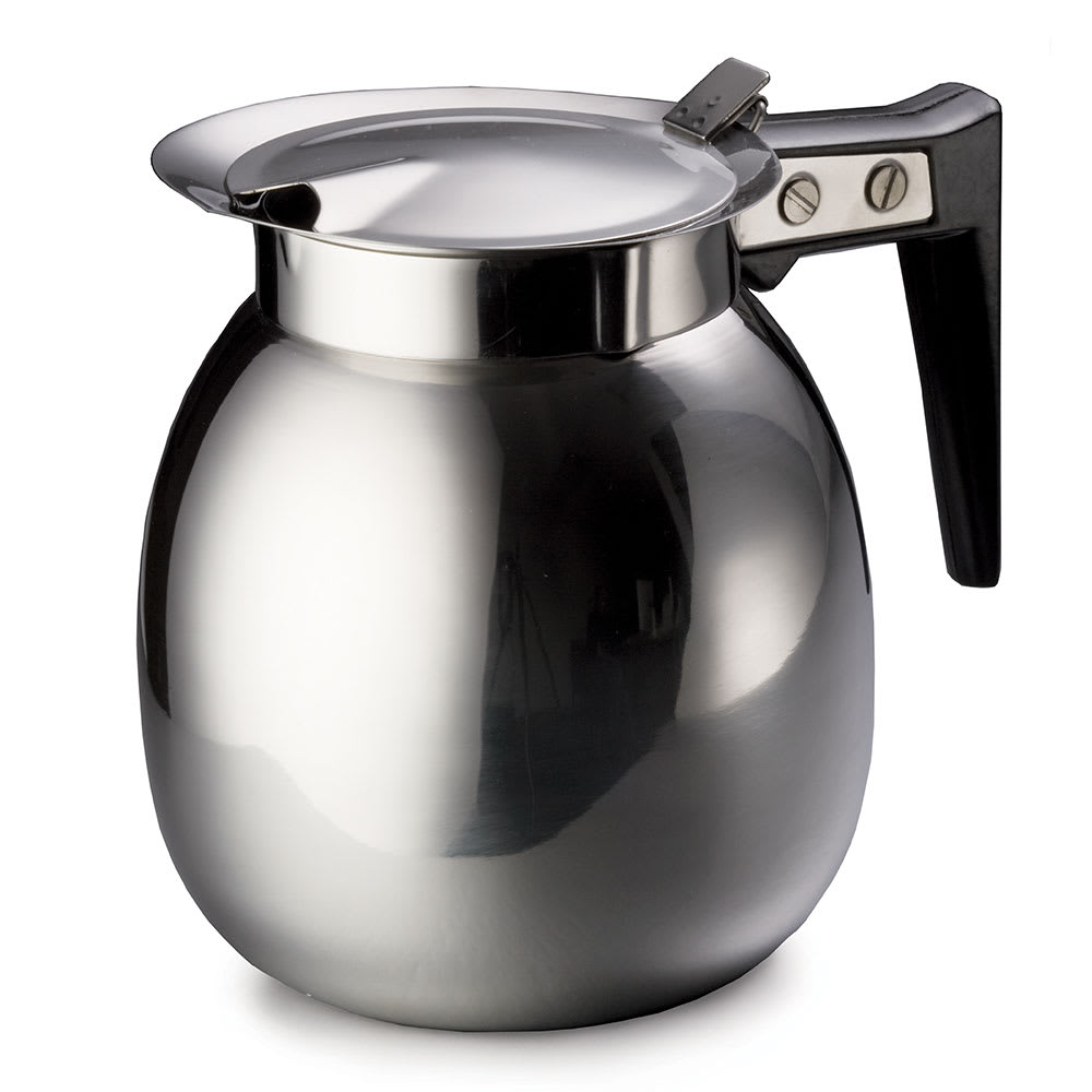 Tablecraft DD510 64 oz Stainless Steel Coffee Server w/ Black Handle