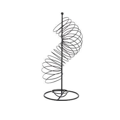 "Tablecraft FSPBK1507 18.5"" Spiral Fruit Basket - Metal, Black"
