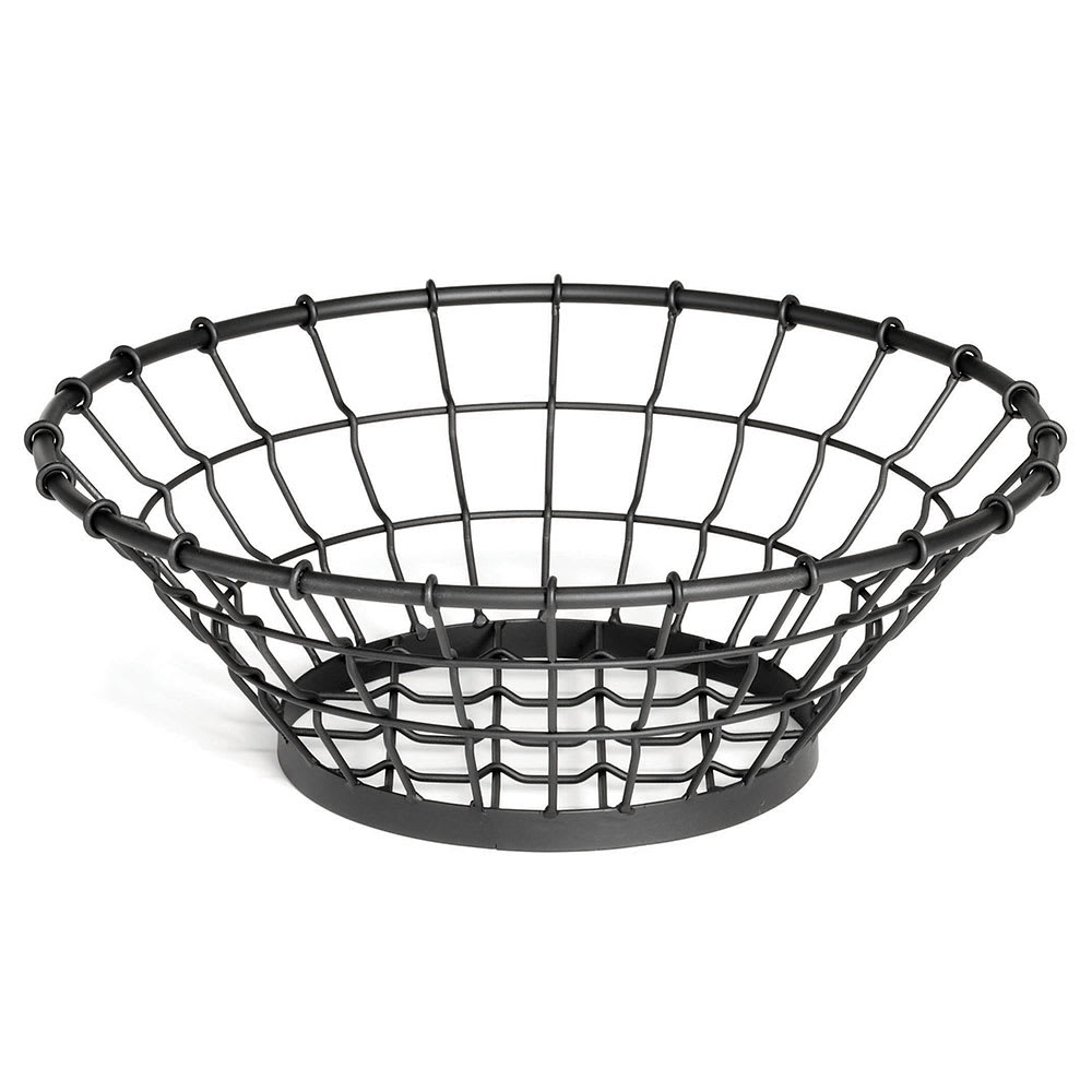 Tablecraft GM15 Round Grand Master Collection Basket, 15 x 5.25 in, Black Powder Coated Metal