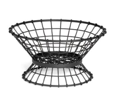 Tablecraft GML15 Round Transformer Collection Lock-N-Load Basket, 15 x 8 in, Metal, Black
