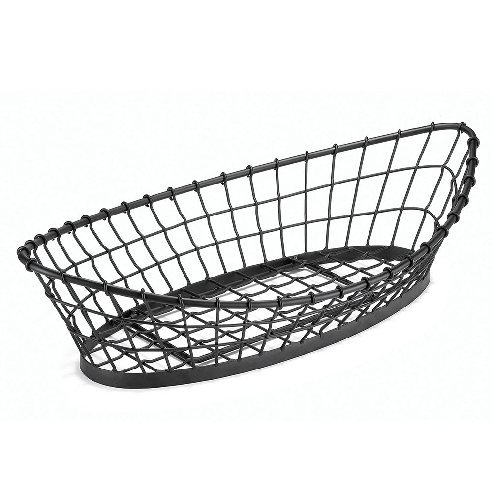 "Tablecraft GMT2412 Round Grand Master Transformer Basket, 24 L x 12 W x 6""H, Black Metal"