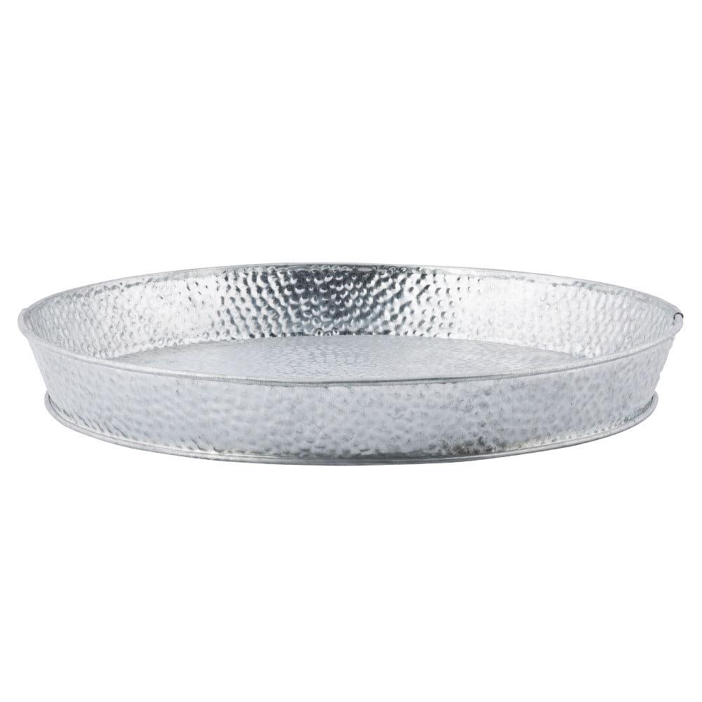 Tablecraft GP10 10.5 Round Dinner Platter, Galvanized Steel