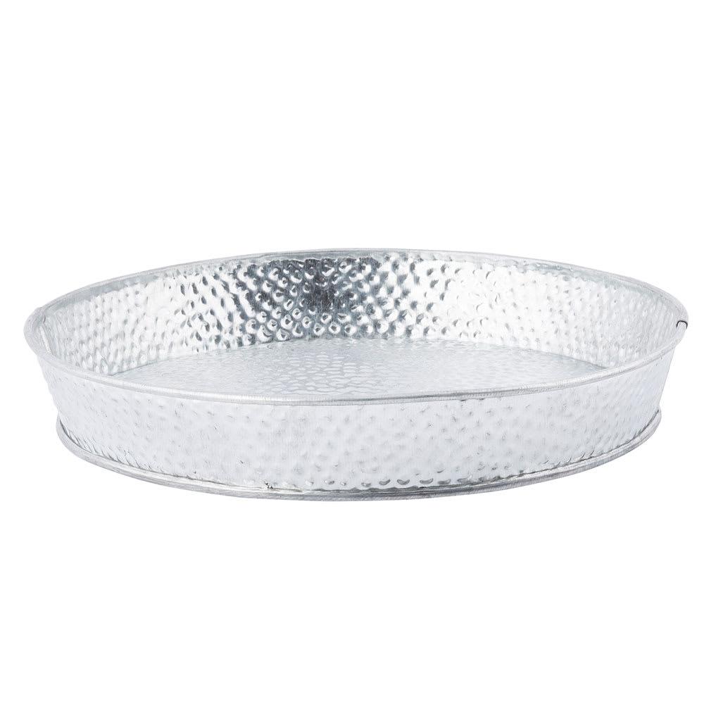 """Tablecraft GP8 8-1/2"""" Round Dinner Platter - Galvanized Steel"""