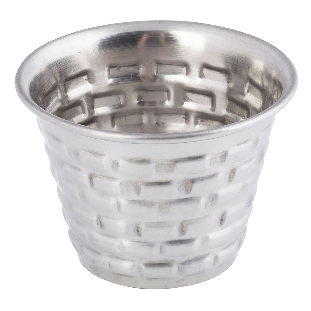"Tablecraft GRSS2 2"" Round Brickhouse Collection Ramekin w/ 2.5 oz Capacity, Stainless"