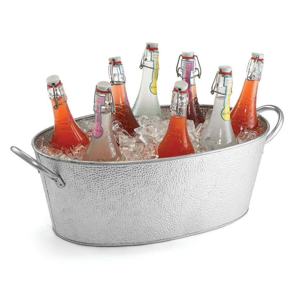 "Tablecraft GT2313 Oval Beverage Tub, 23 x 13 x 7.5"", Galvanized Steel"
