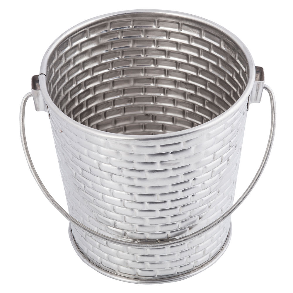 "Tablecraft GTSS44 4.125"" Round Pail w/ 16.5-oz Capacity, Stainless"
