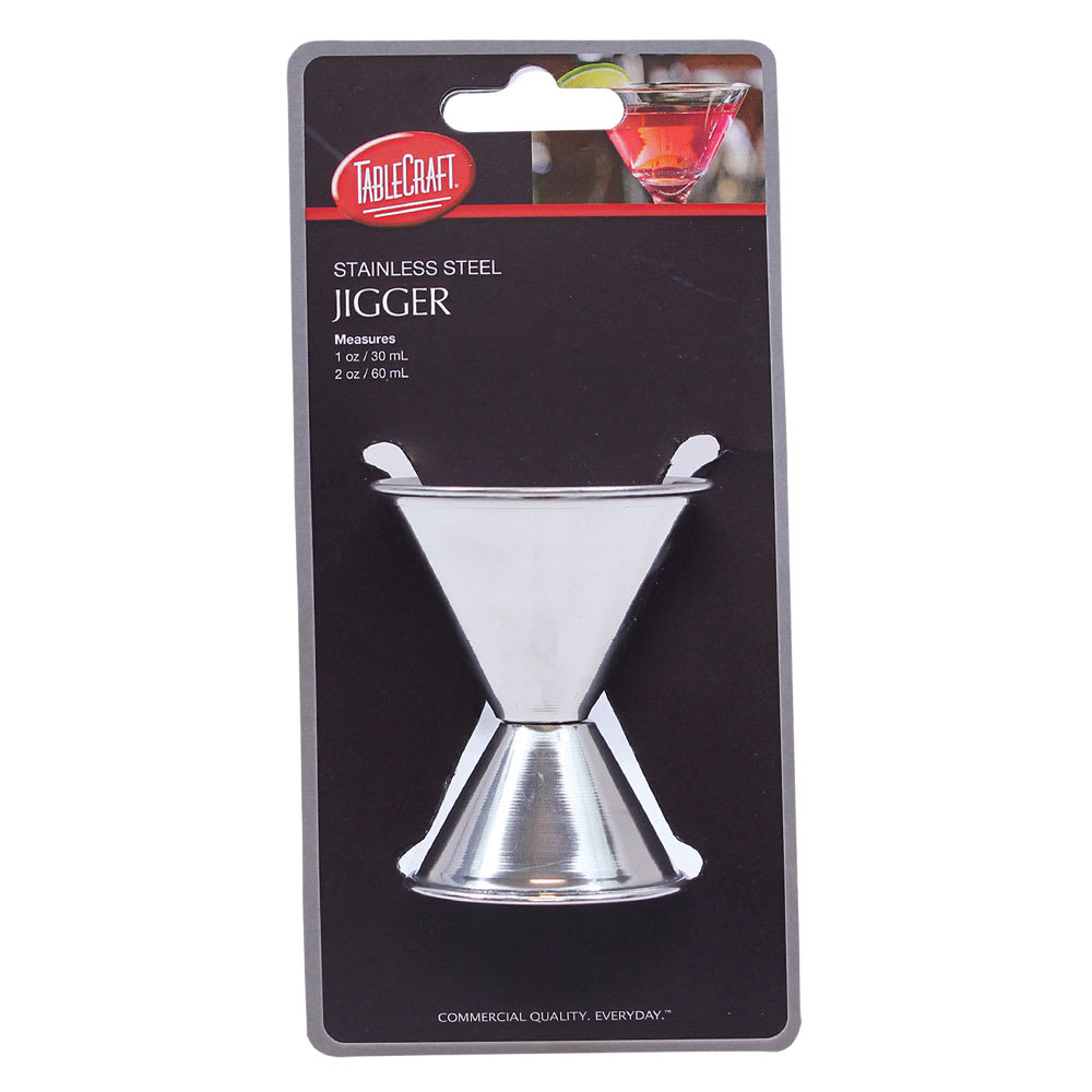 Tablecraft H1206 Double Jigger - 1 & 2 oz., Stainless