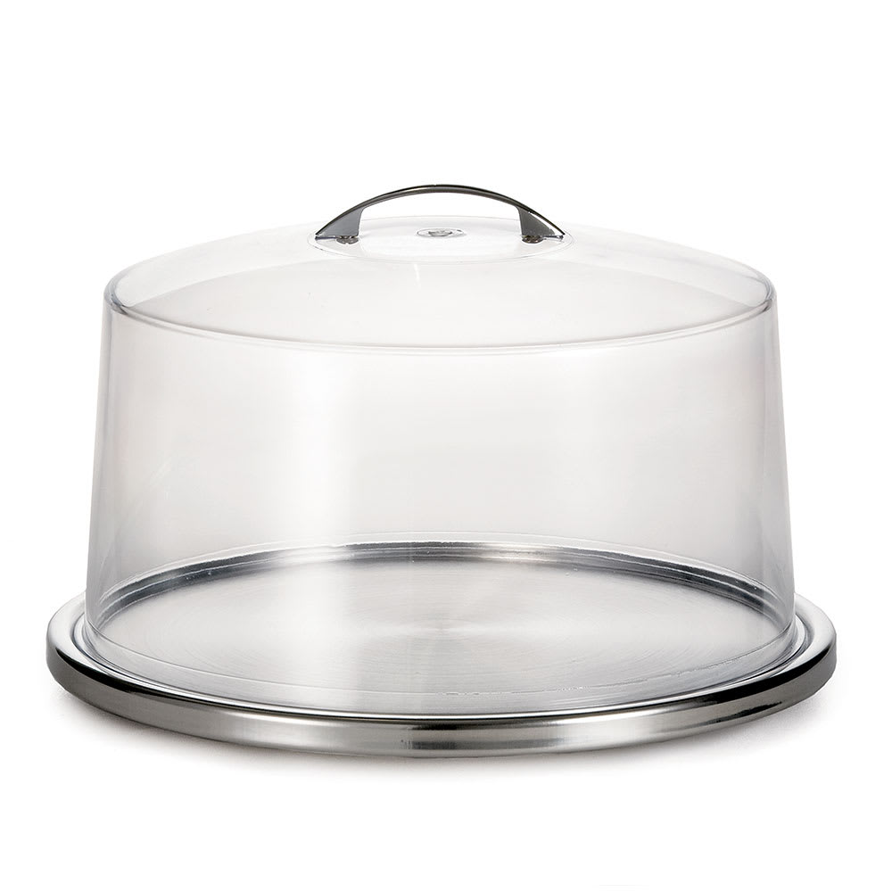 "Tablecraft H820P422 12-3/4"" Cake Plate with Cover - Clear"