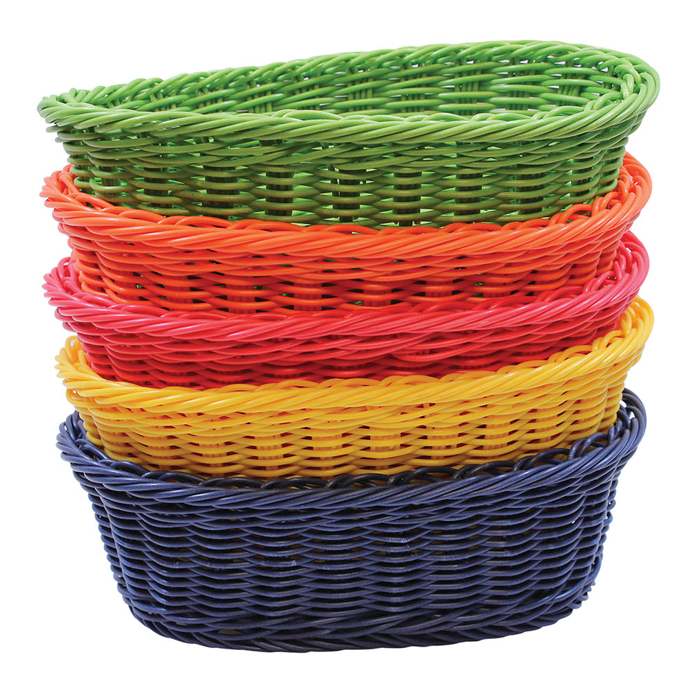 "Tablecraft HM1174A Basket, 9-1/4 x 6-1/4 x 3-1/4"" w/ Assorted Polypropylene Cord"