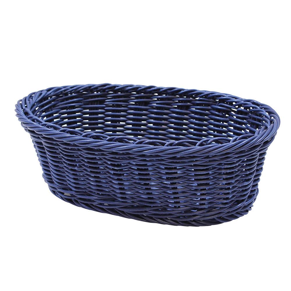 "Tablecraft HM1174BL Oval Basket, 9-1/4 x 6-1/4 x 3-1/4"", Blue Polypropylene Cord"