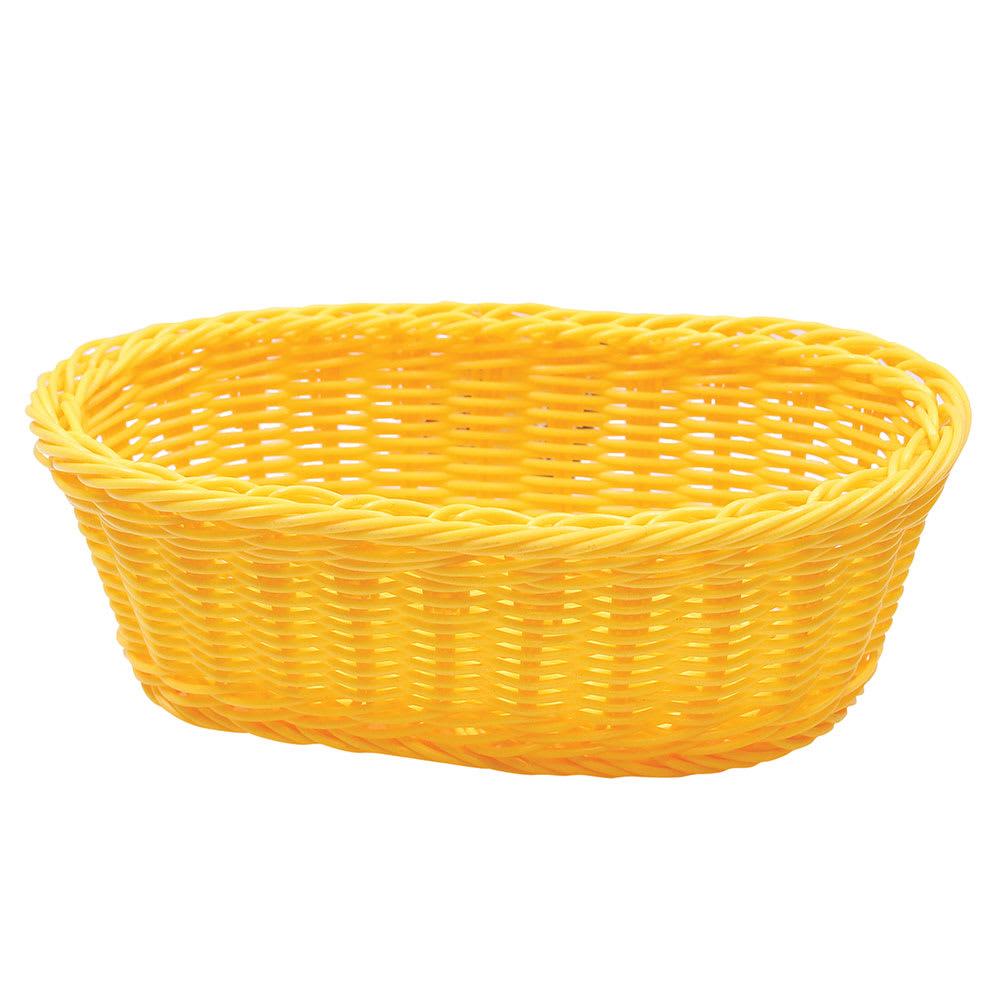 "Tablecraft HM1174Y Oval Basket, 9-1/4 x 6-1/4 x 3-1/4"", Yellow Polypropylene Cord"